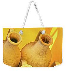 Stacked Yellow Jars Weekender Tote Bag
