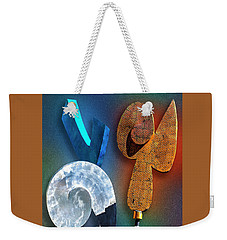 Weekender Tote Bag featuring the photograph Staff Meeting by Paul Wear