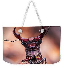 Stag Beetle Stare Down Weekender Tote Bag