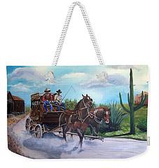 Stagecoach Weekender Tote Bag by Catherine Swerediuk