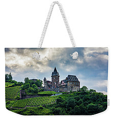 Weekender Tote Bag featuring the photograph Stahleck Castle by David Morefield