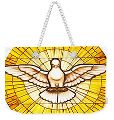 Stain Glass Dove Weekender Tote Bag