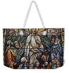 Stained Glass - Palm Sunday Weekender Tote Bag by Munir Alawi