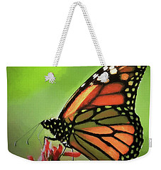 Stained Glass Butterfly Weekender Tote Bag