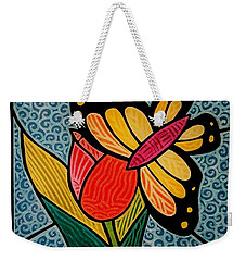 Stained Glass Duo Weekender Tote Bag