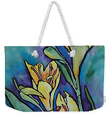 Stained Glass Flowers Weekender Tote Bag