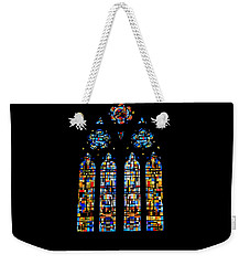 Weekender Tote Bag featuring the photograph Stained Glass France by Tom Prendergast