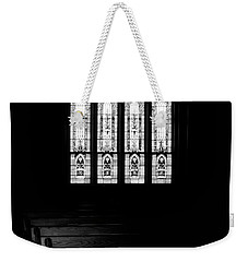 Stained Glass In Black And White Weekender Tote Bag