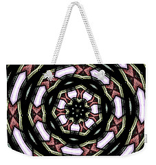 Stained Glass Kaleidoscope 12 Weekender Tote Bag by Rose Santuci-Sofranko