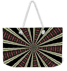 Stained Glass Kaleidoscope 14 Weekender Tote Bag by Rose Santuci-Sofranko