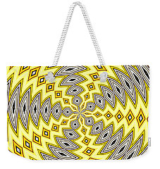 Stained Glass Kaleidoscope 18 Weekender Tote Bag by Rose Santuci-Sofranko