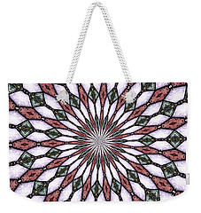 Stained Glass Kaleidoscope 2 Weekender Tote Bag by Rose Santuci-Sofranko