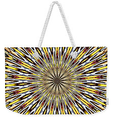 Stained Glass Kaleidoscope 22 Weekender Tote Bag by Rose Santuci-Sofranko