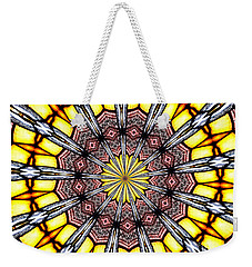 Stained Glass Kaleidoscope 23 Weekender Tote Bag by Rose Santuci-Sofranko