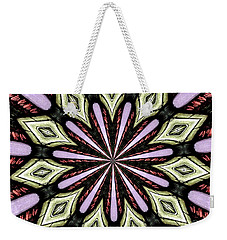 Stained Glass Kaleidoscope 25 Weekender Tote Bag by Rose Santuci-Sofranko