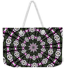 Stained Glass Kaleidoscope 3 Weekender Tote Bag by Rose Santuci-Sofranko