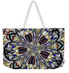 Stained Glass Kaleidoscope 38 Weekender Tote Bag