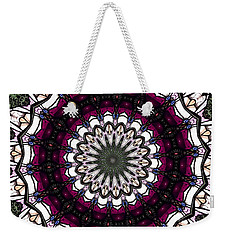 Stained Glass Kaleidoscope 4 Weekender Tote Bag by Rose Santuci-Sofranko
