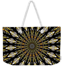 Stained Glass Kaleidoscope 5 Weekender Tote Bag by Rose Santuci-Sofranko