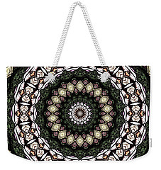 Stained Glass Kaleidoscope 6 Weekender Tote Bag by Rose Santuci-Sofranko