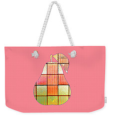 Stained Glass Pear Weekender Tote Bag