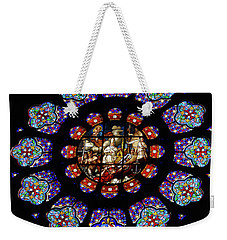 Stained Glass Rose Window Of Joinville Weekender Tote Bag