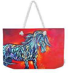 Stained Glass Stallion Weekender Tote Bag by Karen Kennedy Chatham