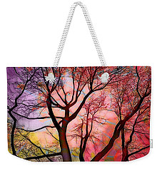 Stained Glass Sunrise 2 Weekender Tote Bag