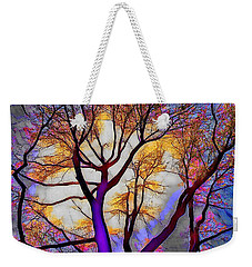 Stained Glass Sunrise Weekender Tote Bag