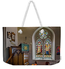Weekender Tote Bag featuring the photograph Stained Glass Uk by Adrian Evans