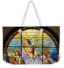Weekender Tote Bag featuring the photograph Stained Glass Window by Elizabeth Budd