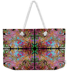 Stained Glass Window Weekender Tote Bag by Loxi Sibley