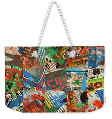Stained Newspaper Pages Weekender Tote Bag
