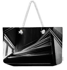 Weekender Tote Bag featuring the photograph Stairway In Amsterdam Bw by RicardMN Photography