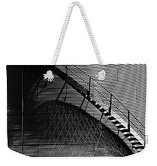 Weekender Tote Bag featuring the photograph Stairway Shadow by Christopher McKenzie