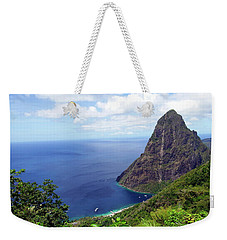 Weekender Tote Bag featuring the photograph Stairway To Heaven View, Pitons, St. Lucia by Kurt Van Wagner