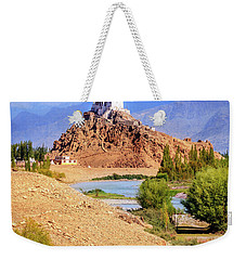 Weekender Tote Bag featuring the photograph Stakna Monastery by Alexey Stiop