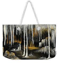 Weekender Tote Bag featuring the painting Stalactite Cave by Anastasiya Malakhova