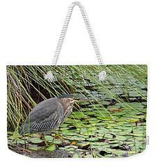 Weekender Tote Bag featuring the digital art Stalking by I'ina Van Lawick