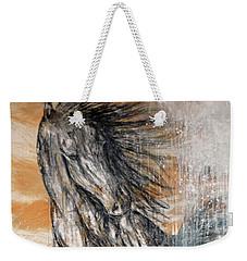 Weekender Tote Bag featuring the painting Stallion Fury by Jennifer Godshalk