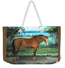 Stallion Portrait Weekender Tote Bag