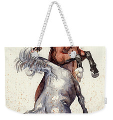 Stallion Showdown Weekender Tote Bag by Margaret Stockdale