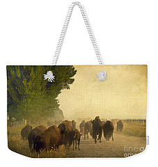 Stampede Weekender Tote Bag by Teresa Zieba