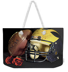 Stan Edwards's Autographed Helmet With Roses Weekender Tote Bag