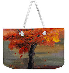Stand Alone In Color - Autumn - Tree Weekender Tote Bag