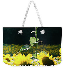Weekender Tote Bag featuring the photograph Stand Out by Andrea Anderegg