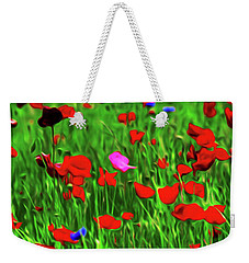 Weekender Tote Bag featuring the digital art Stand Out by Timothy Hack