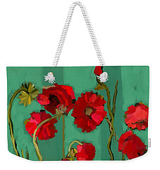Weekender Tote Bag featuring the painting Stand Tall by Carrie Joy Byrnes
