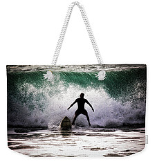 Weekender Tote Bag featuring the photograph Standby Surfer by Jim Albritton