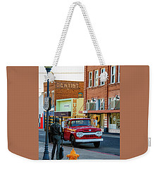Standin On The Corner Park Weekender Tote Bag